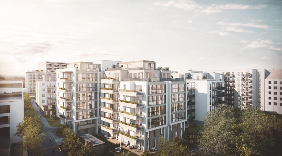 Blick auf das Wohnhaus Wehleweg 9 im IU